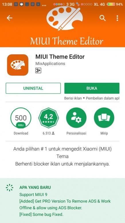 Update MIUI Theme Editor fix bug for MIUI 9 - Tema - Mi