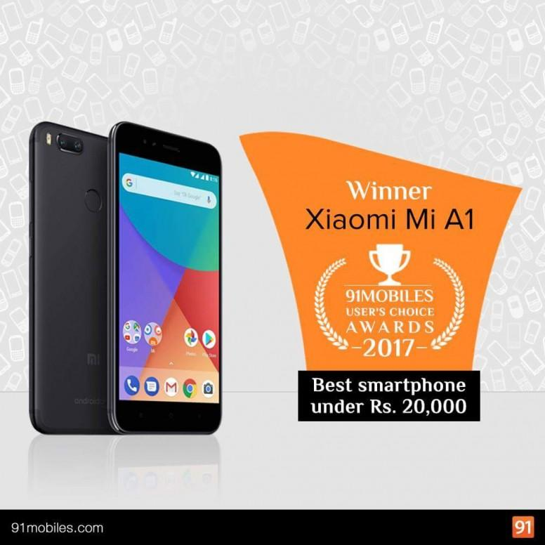 Xiaomi Smartphones Voted as Best in 91Mobiles User's Choice Awards 2017