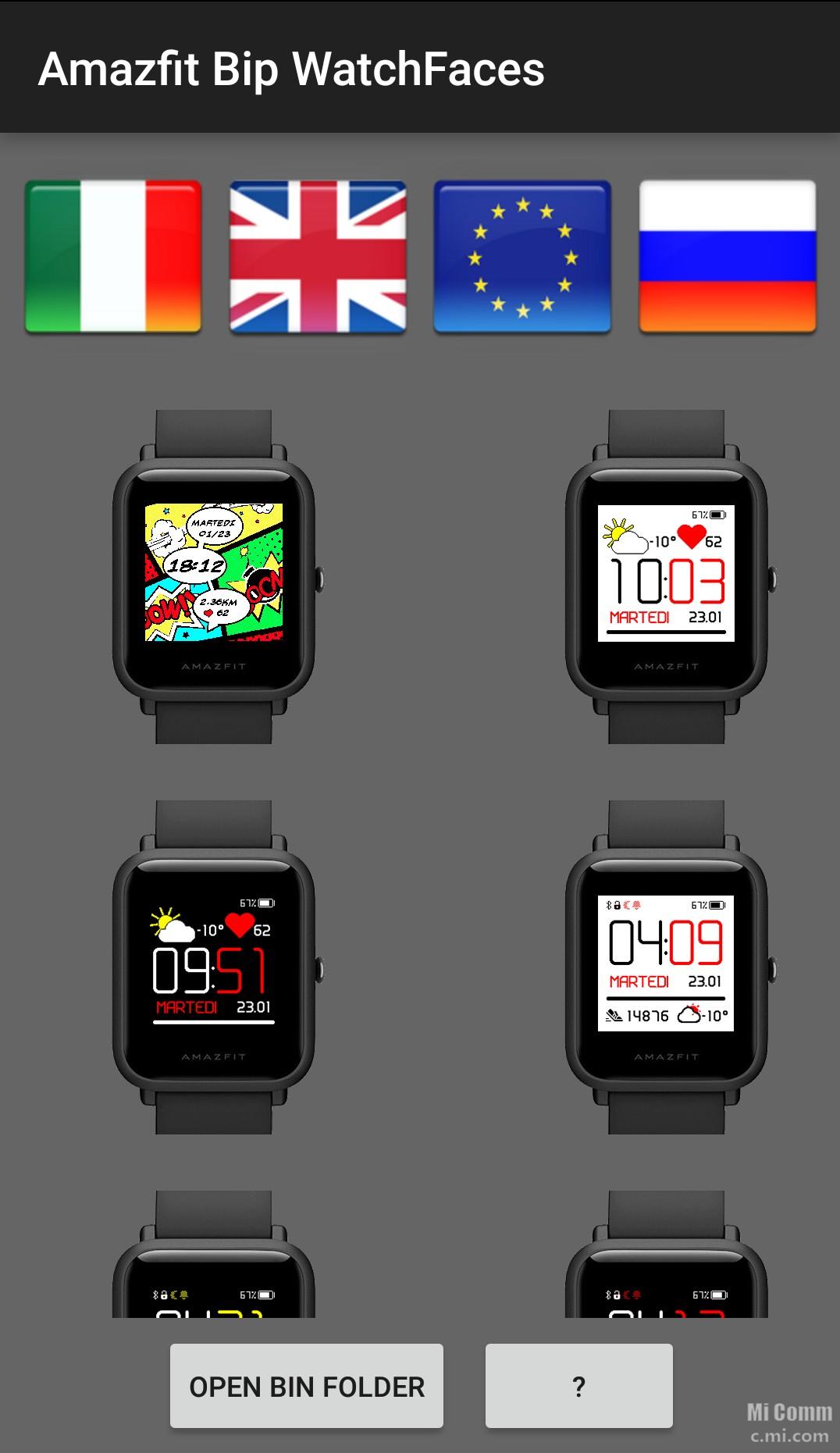 Gonta Ganti Watchface Amazfit bip feat app amazfit bip watchfaces
