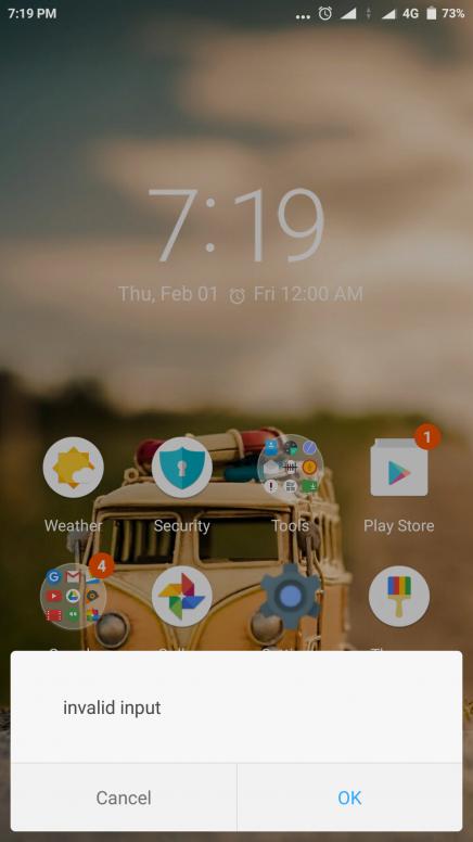 error as invalid input - Tips & Tricks - Mi Community - Xiaomi