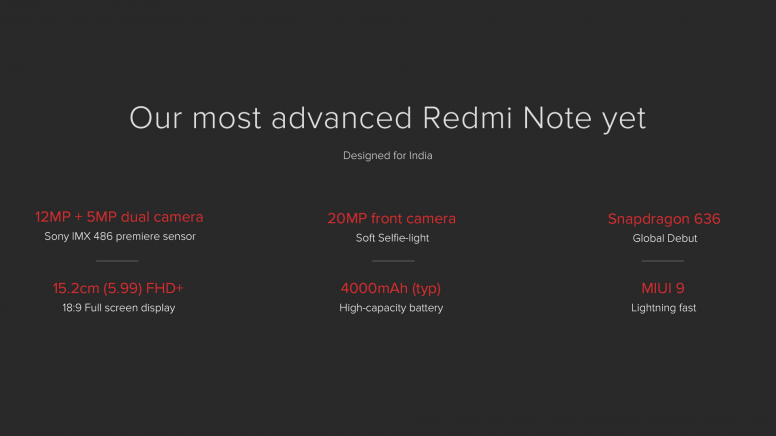 Redmi Note 5 Pro: Features & Specifications