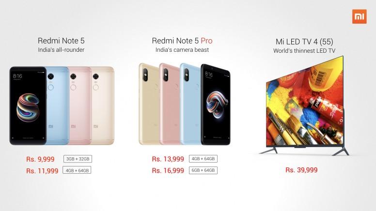 First sale announcement: redmi note 5 redmi note 5 pro & mi tv 4