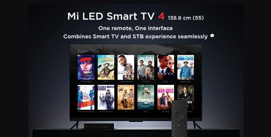Mi TV 4 55 One Remote  One Interface