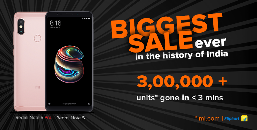 Biggest Sale Ever Xiaomi India