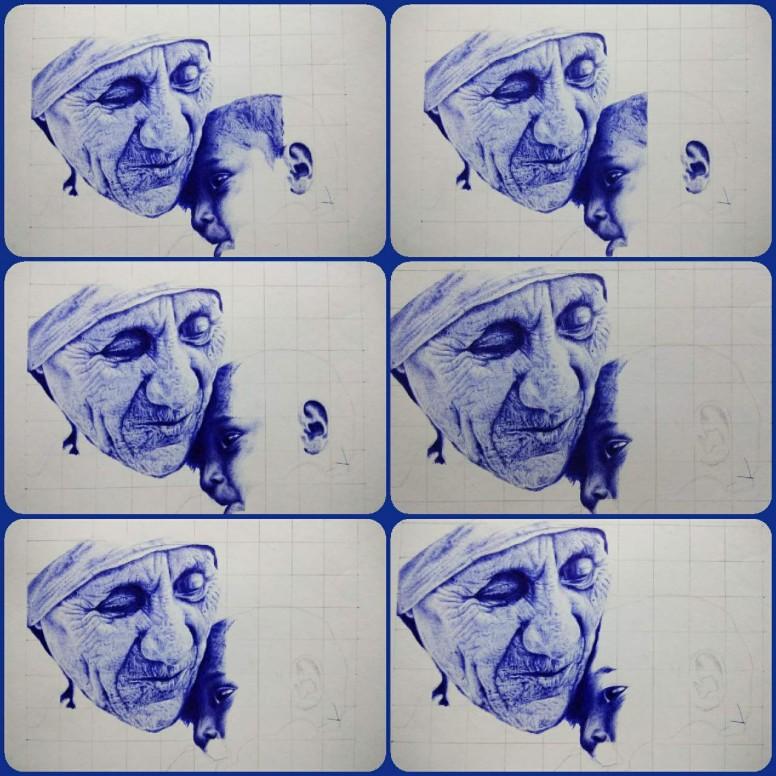 Mother Teresa ball pen drawing - Photography - Mi Community