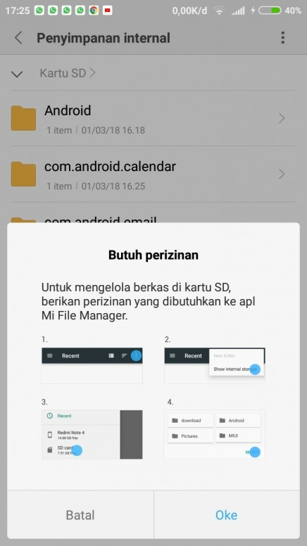 Perizinan Kartu Sd Redmi 5a Mi Community Xiaomi