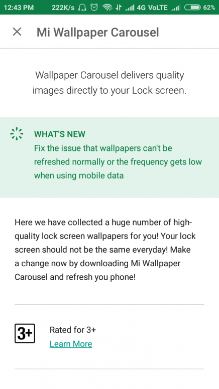 Issue Fixed Wallpaper Carousel Can T Update Using Mobile Data Resources Mi Community Xiaomi