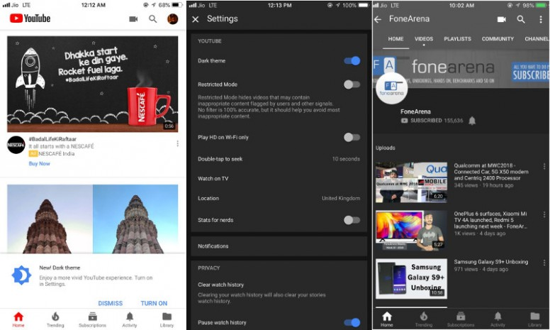 YouTube For iOS Gets Dark Theme, Android To Add It Soon - Tech - Mi
