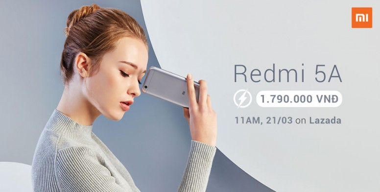 Redmi 5A sẽ Flash Sale trở lại trên Lazada vào 11 giờ trưa 21/3 này!