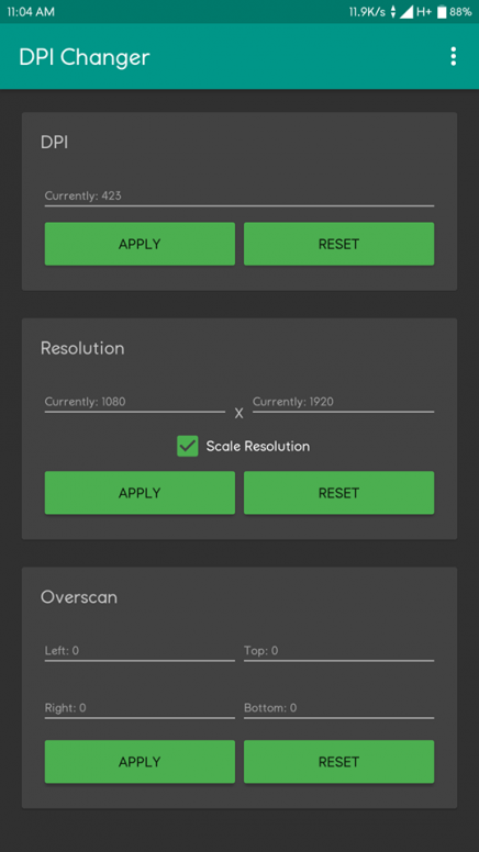 Change DPI and Screen resolution without root! - Tips and