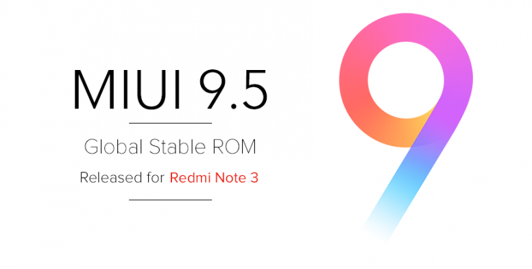 MIUI 9 5 Global Stable ROM V9 5 1 0 MHOMIEK for Redmi Note 3