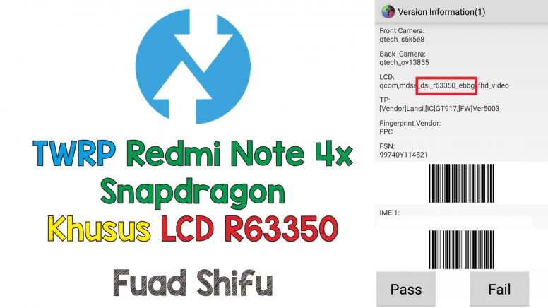 TWRP Redmi Note 4x Snapdragon Khusus LCD R63350 - Redmi Note 4 - Mi