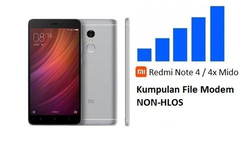 Kumpulan File Modem NON-HLOS bin Xiaomi Redmi Note 4 / 4x Snapdragon
