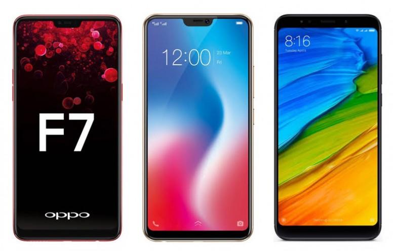 b879a9ef148 Comparison     Oppo F7 vs Vivo V9 vs Redmi Note 5 Pro  Price in ...