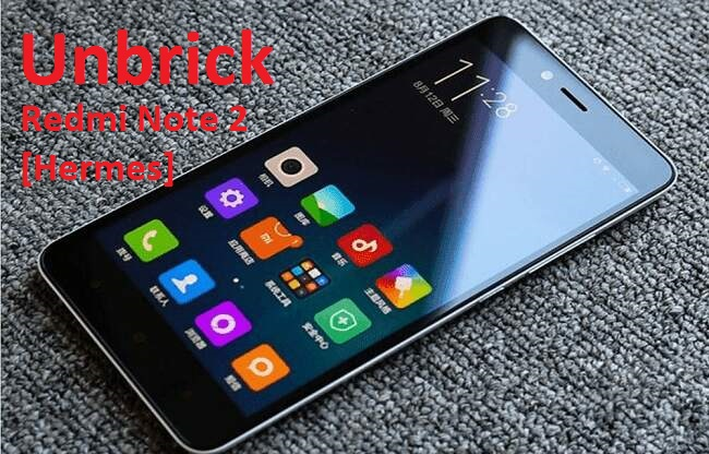 Cara Unbrick Xiaomi Redmi Note 2 [hermes] Mediatek via SP