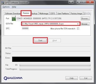 Cara Restore File QCN pada Device Xiaomi - Tips dan trik - Mi