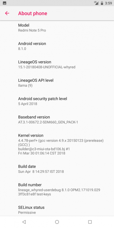 Unofficial] Los 15 1 For Redmi Note 5 Pro [whyred] Based on