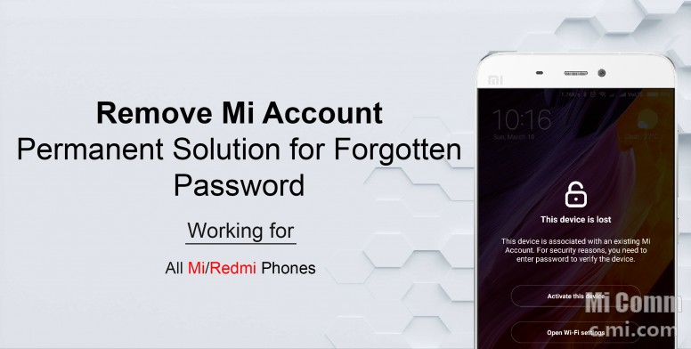Remove Mi Account: Permanent Solution for Forgotten Password - Tips