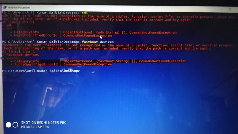 redmi note 5 pro adb problem on windows 10 - MIUI General