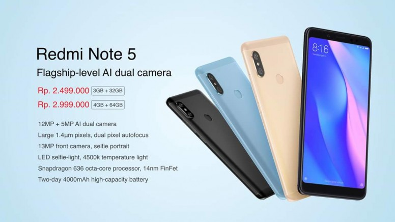Xiaomi redmi note 5 ai has released in indonesia mi news mi xiaomi redmi note 5 ai has released in indonesia stopboris Choice Image