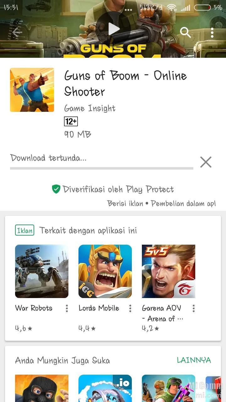 download tertunda di playstore xiaomi mi a1
