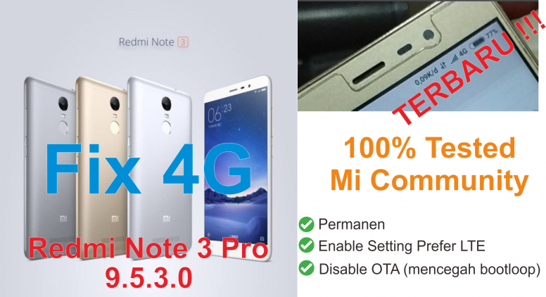 Fix 4g Redmi Note 3 Pro Kenzo Global Stable 9 5 3 0 Ubl Only