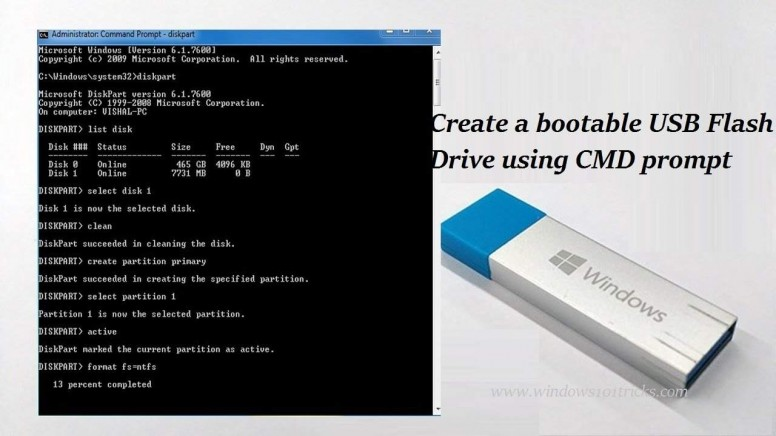 How To Create Bootable USB Without Any Software In Windows 10 - Tips