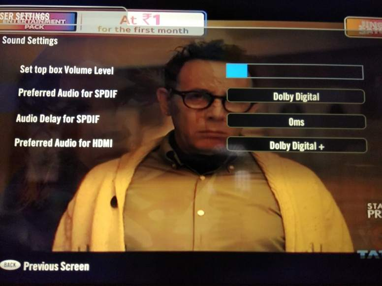 Mi tv 4 sound problem with Tata sky hd set up box solved