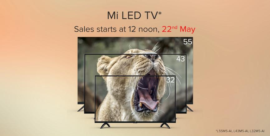 Mi TV Sale 22nd May 2018