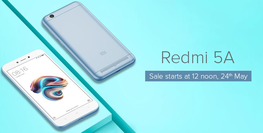 Redmi 5A 24th May Sale