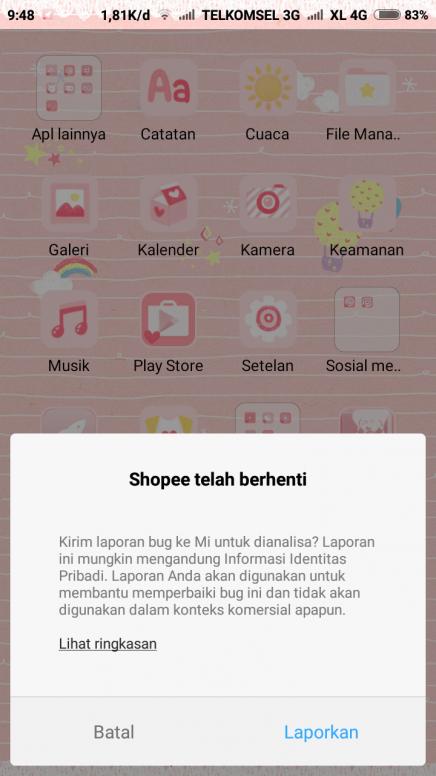 Kenapa Ya Sering Muncul Kirim Laporan Bug Seperti Ini Bagaimana Cara Mengatasi Redmi Note 5a Mi Community Xiaomi