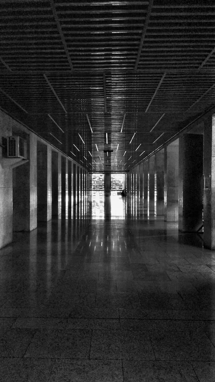 Arsitektur Simetris Masjid Istiqlal Jakarta Fotografi Mi
