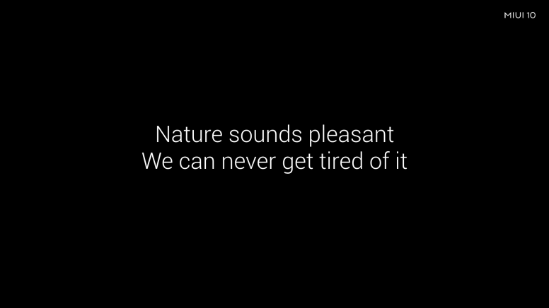 Rediscover the sounds of nature with MIUI 10: A soothing experience
