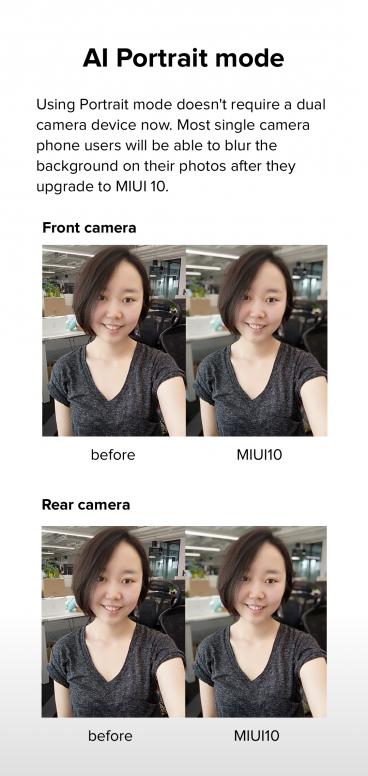 Introducing the new Single camera AI Portrait mode in MIUI 10