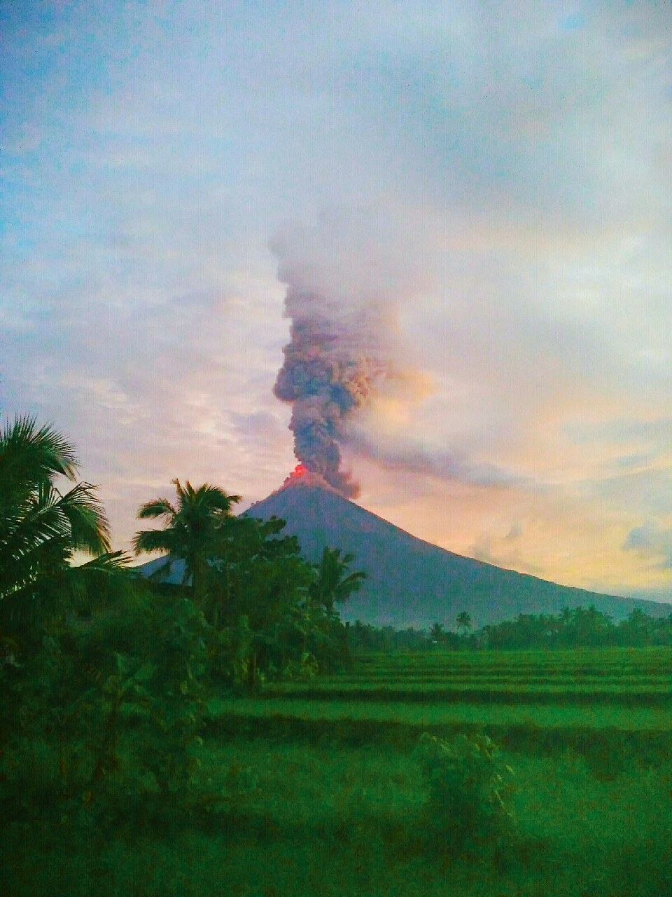 the day before mayon volcano eruption A volcanic eruption can cause tremors, while a large temblor can rattle a magma chamber underneath a volcano, causing towers of ash and rivers of lava to gush forth.