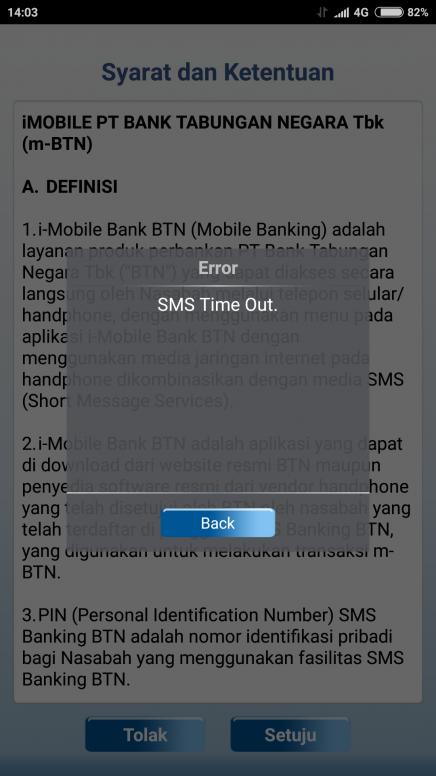 error aktivasi m banking btn redmi