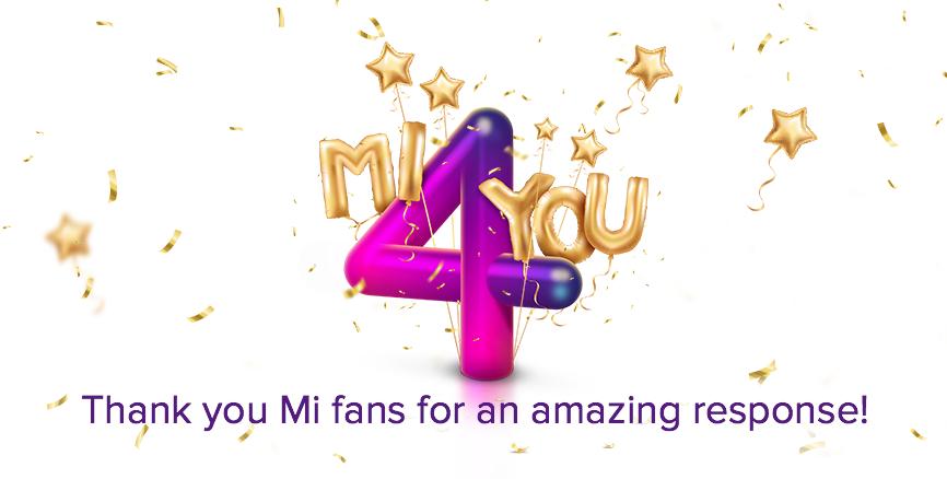 Mi 4 You Sale Thanks