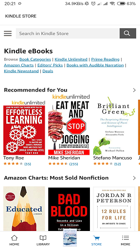 APP REVIEW] Amazon Kindle - Light of Books - Resources - Mi
