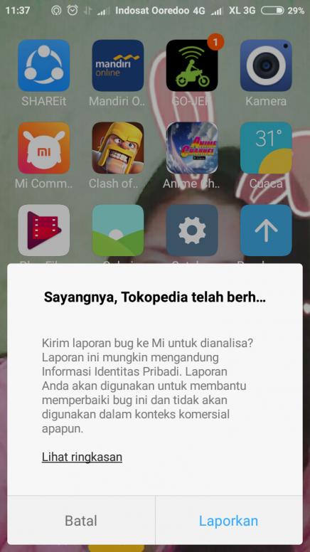Tolong Bantu Bingung Buka Aplikasi Tokopedia Selalu Begni Gmn