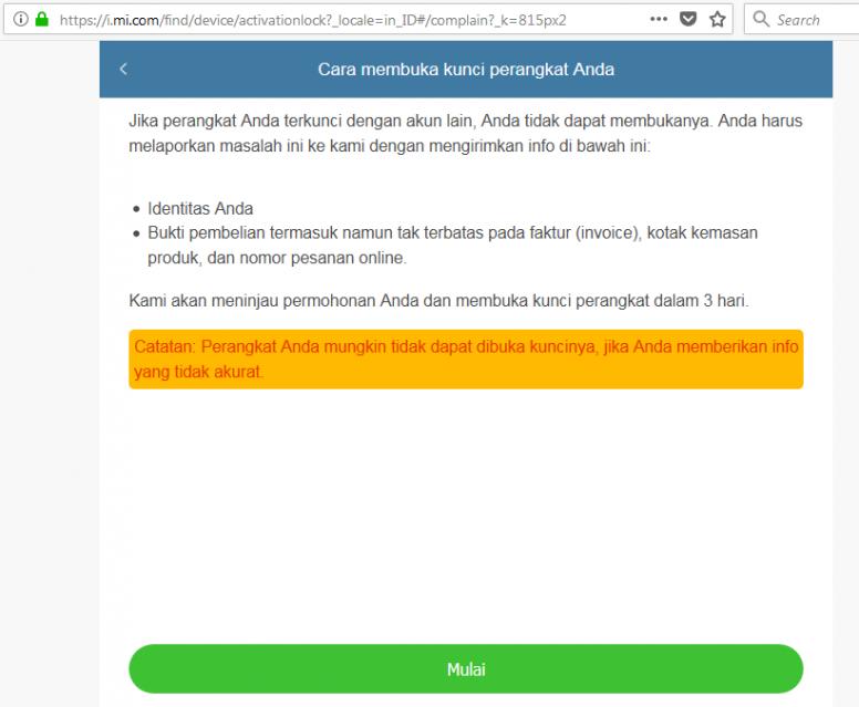 Cara Mengatasi Hp Xiaomi Yg Terkunci Akun Mi Setelah Update Reset