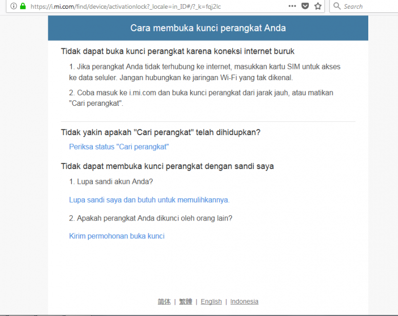Cara Mengatasi Hp Xiaomi Yg Terkunci Akun Mi Setelah Update