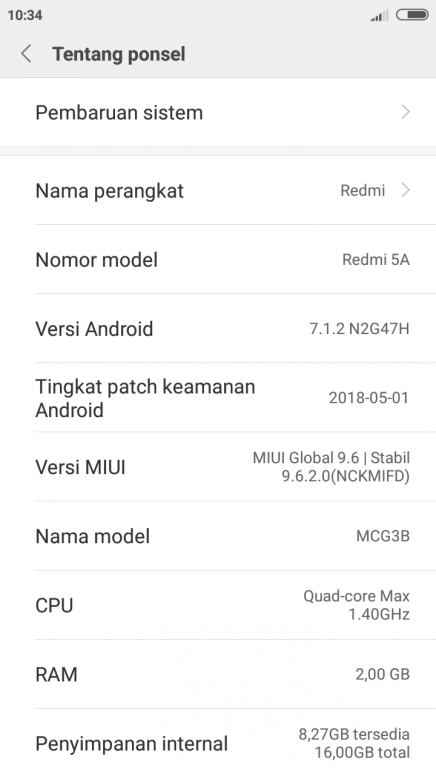 cara downgrade xiaomi redmi 5a dari miui 10 global beta 8 7