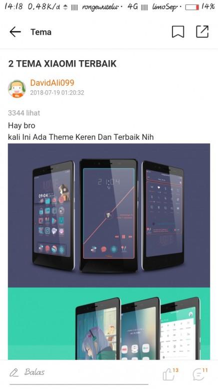 Pengunduhan Tema Tema Mi Community Xiaomi