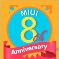 MIUI 8. Yıl Dönümü