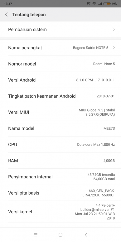 Bagaimana Cara Memperbaiki Sensor Redmi Note 5 Yang Mati Redmi
