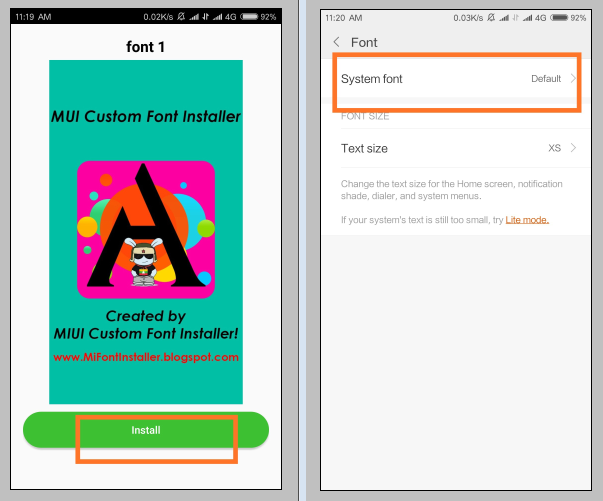 How To Install Third Party Custom Fonts on MIUI Without ROOT