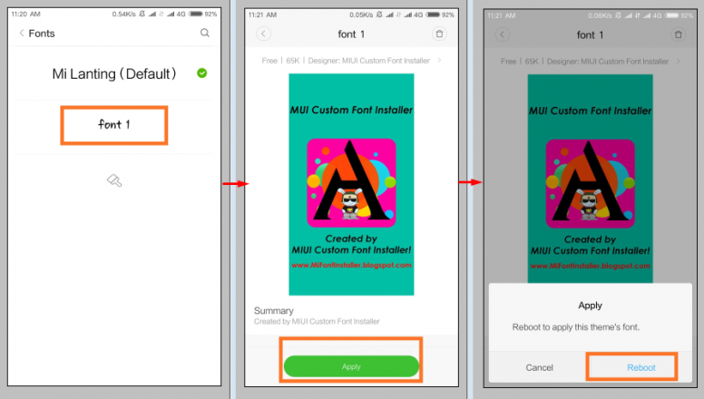 How To Install Third Party Custom Fonts on MIUI Without ROOT - Tips