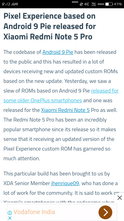 Xda Redmi Note 5 Pro