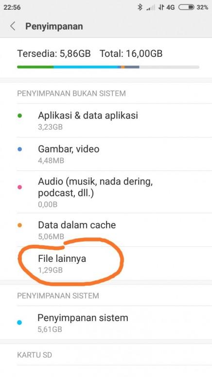 Bgmn Cara Menghapus Data File Lainnya Redmi 5a Mi Community Xiaomi
