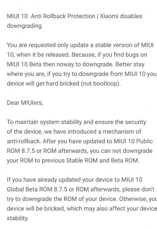 Know about Google announces anti-rollback - Chat - Mi Community - Xiaomi